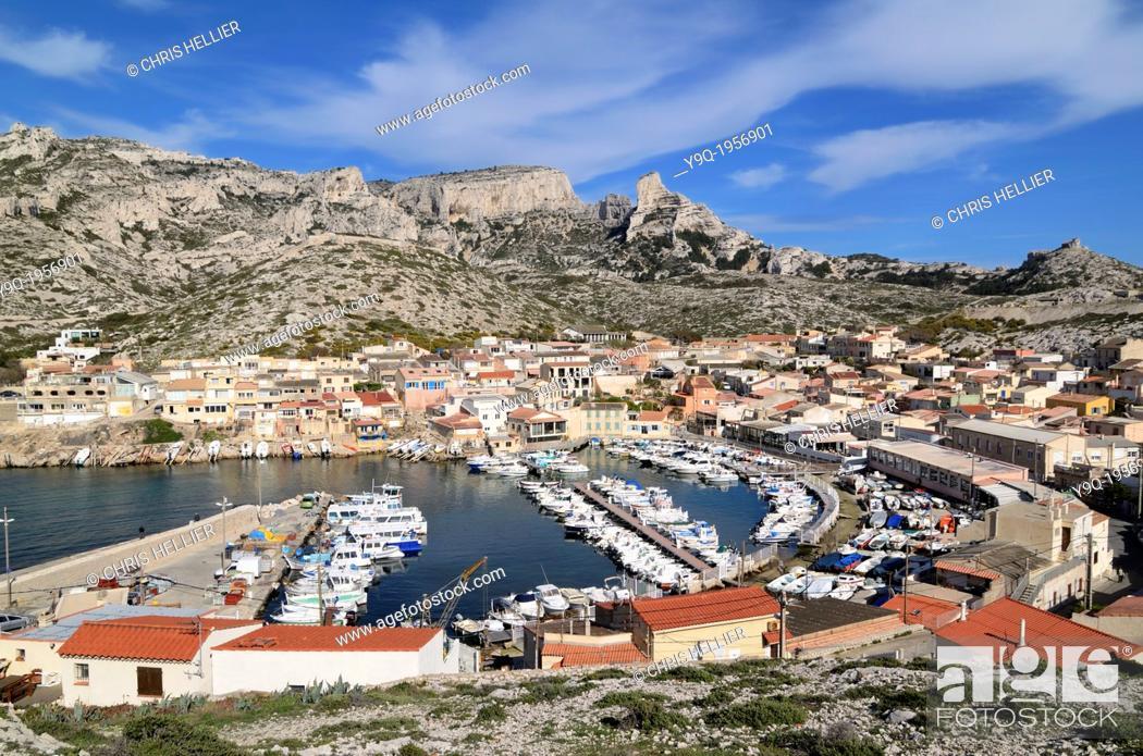 Stock Photo: Les Goudes Marseille France.