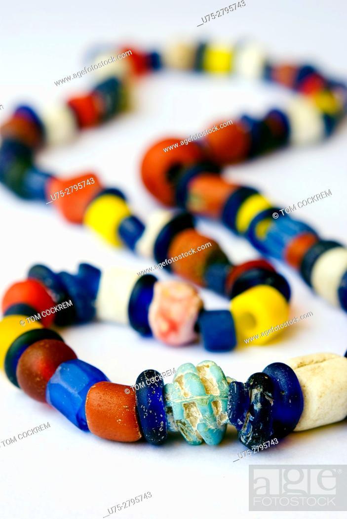 Stock Photo: Shipwreck beads from Ilha de Mozambique.