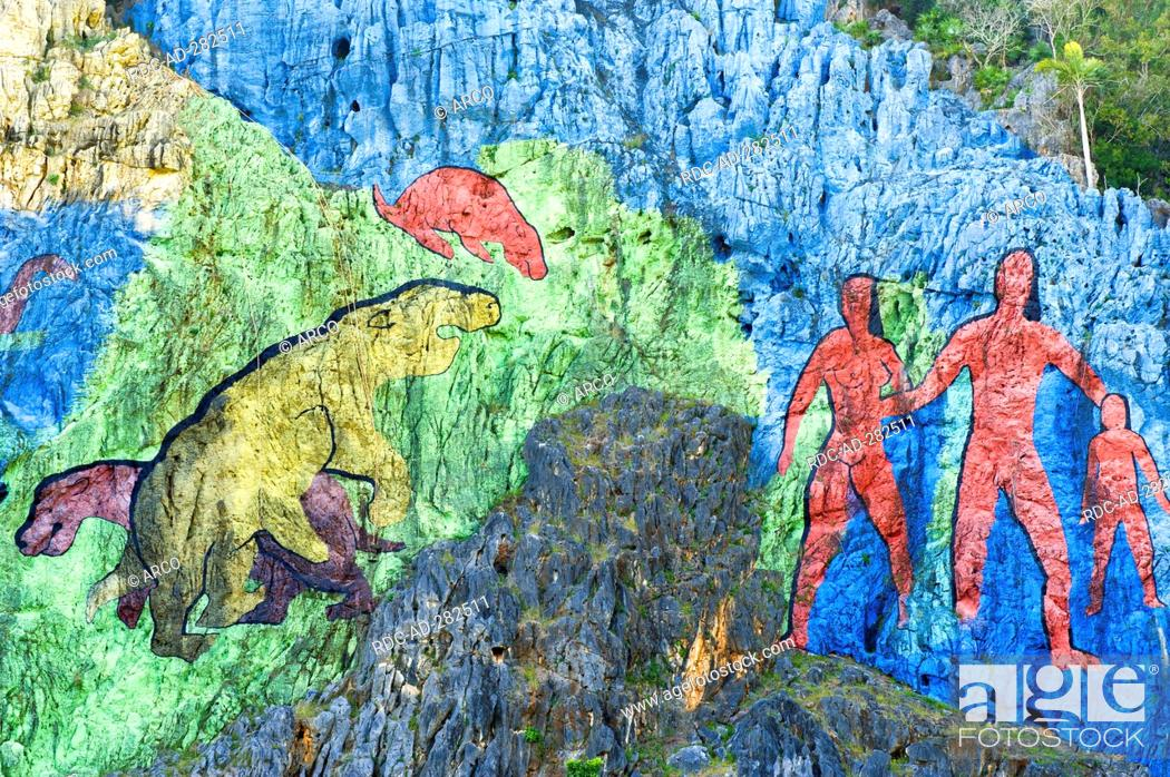 Mural de la prehistoria prehistoric wall painting for Mural de la prehistoria