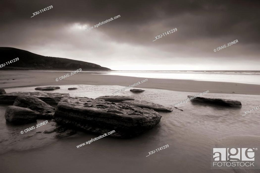 Stock Photo: Dunraven Bay by Southerndown on the Glamorgan Heritage Coast, Wales.