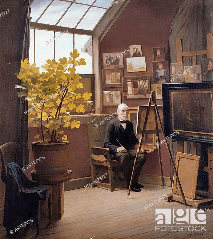 Stock Photo: Exner Johan Julius - Self Portrait - Danish School - 19th and Early 20th Century.