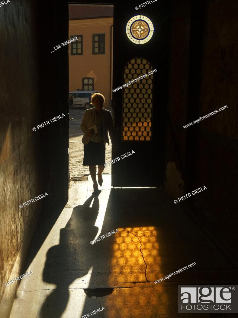 Stock Photo: Romania. Brasov. Old Town. View from court.