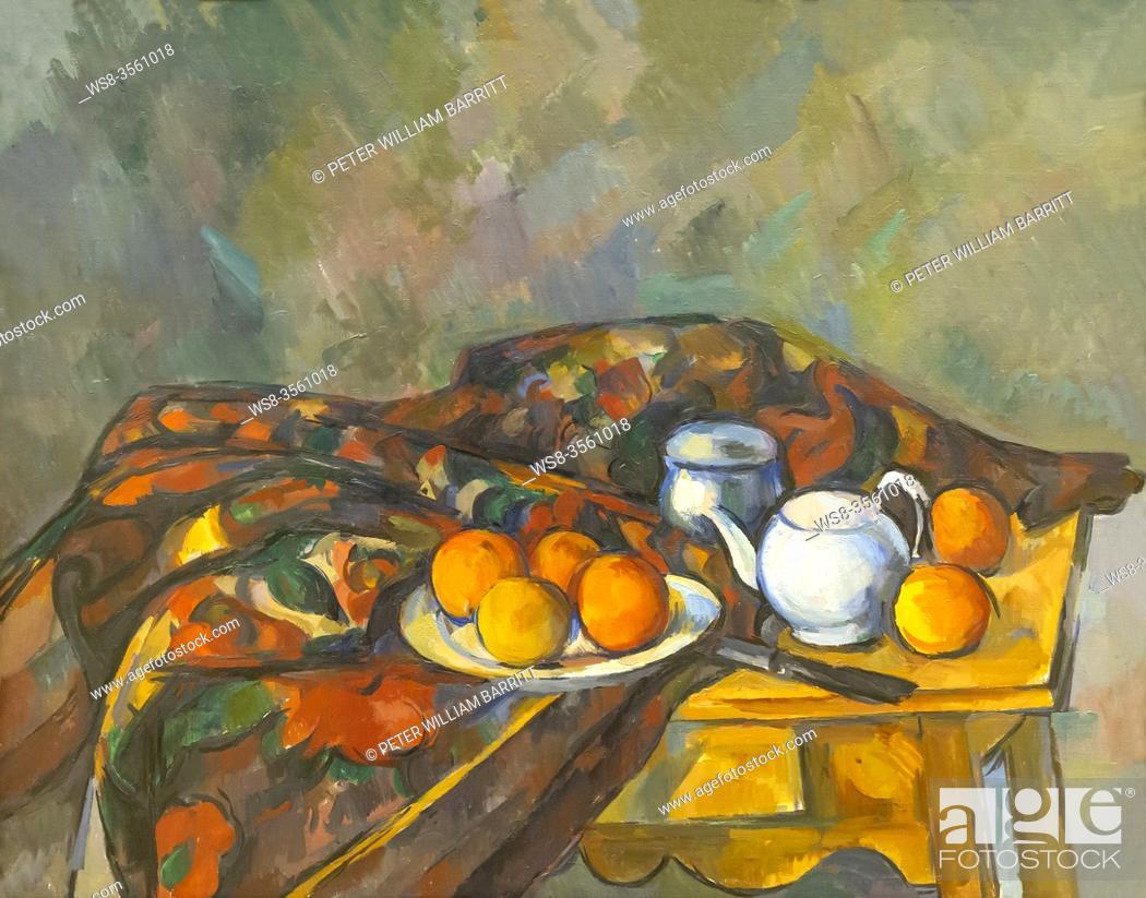 Imagen: Still Life with Teapot, Paul Cezanne, 1902-1906, .