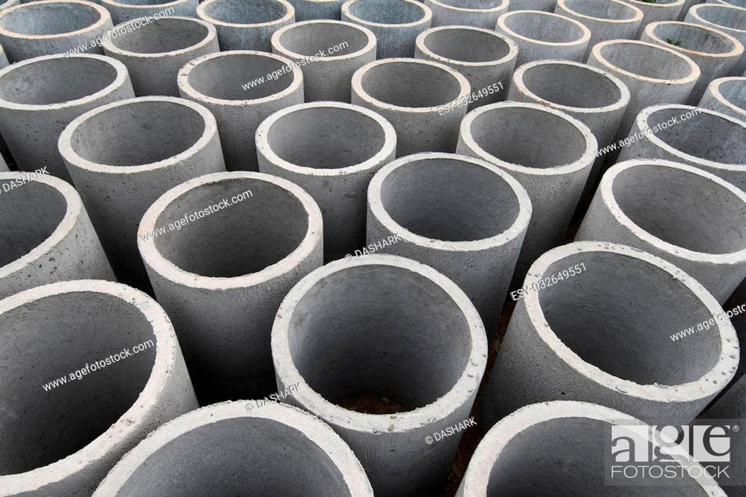 Stock Photo: Concrete pipe.