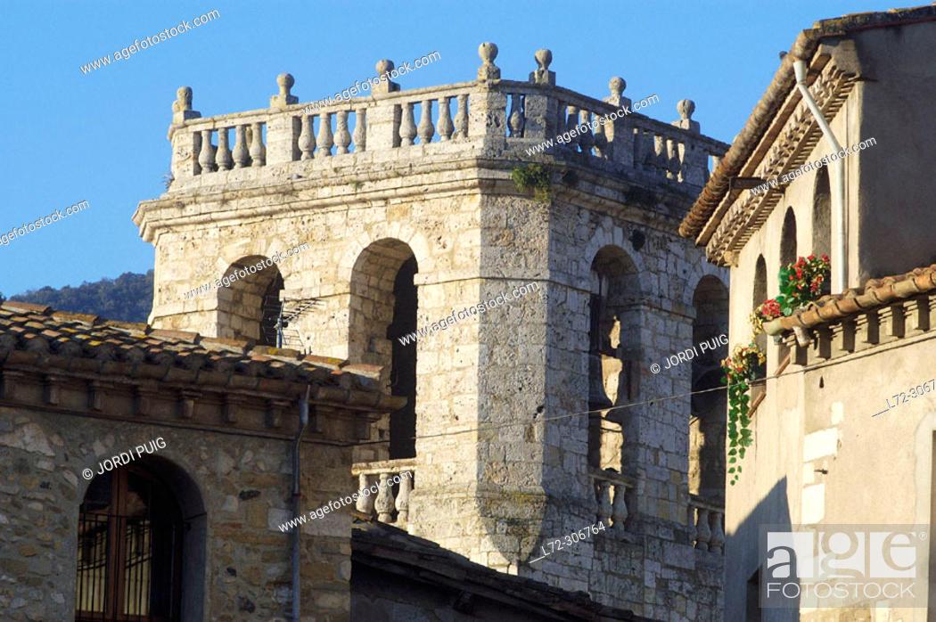 Stock Photo: Monastery of Sant Pere. Besalú. Girona province. Catalunya. Spain.