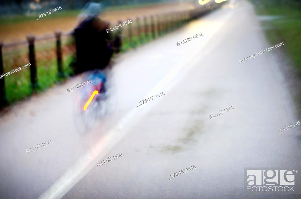 Stock Photo: Road, road, single, single, bike, cycling.