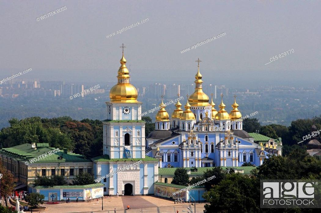 Stock Photo: St Michael of the Golden Cupolas monastery,Kiev,Ukraine.