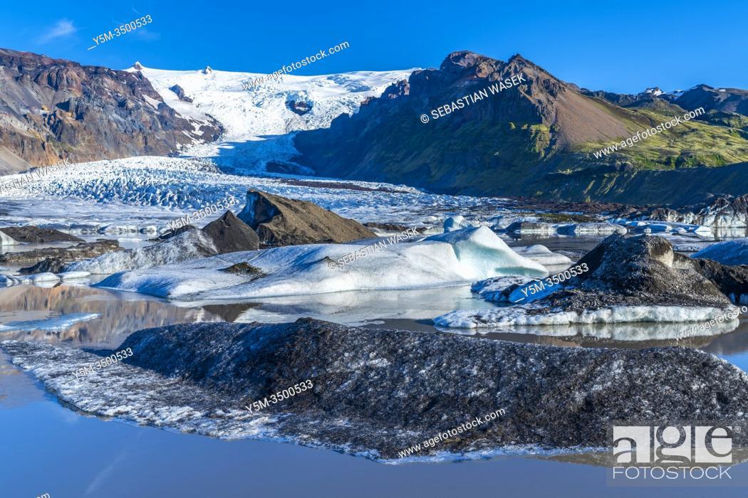 Stock Photo: Kvíamýrarkambur Glacier, Eastern Region, Iceland.