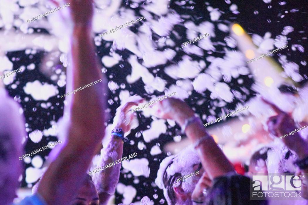 Stock Photo: wild foam party.