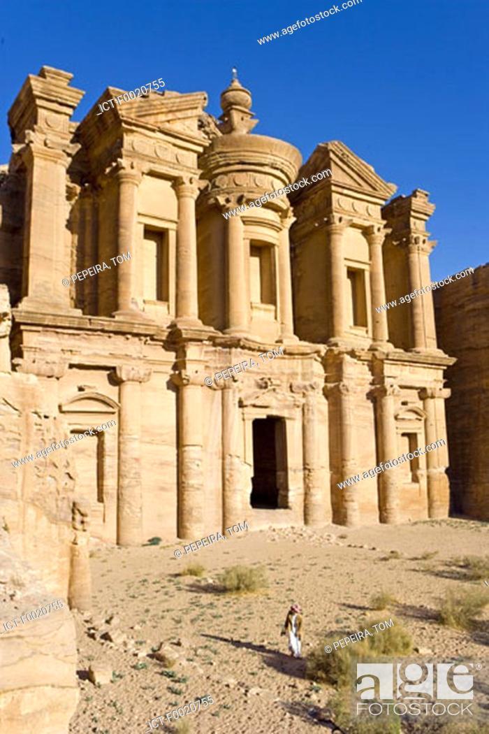 Stock Photo: Jordan, Petra, el Deir.