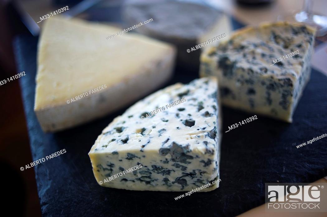 Stock Photo: Food, Cheese, Vulcania Auvergne region, France.