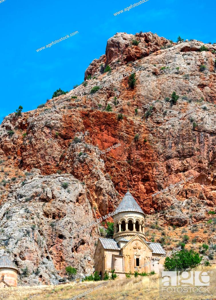 Stock Photo: Noravank Monastery, Amaghu Valley, Vayots Dzor Province, Armenia, Middle East.