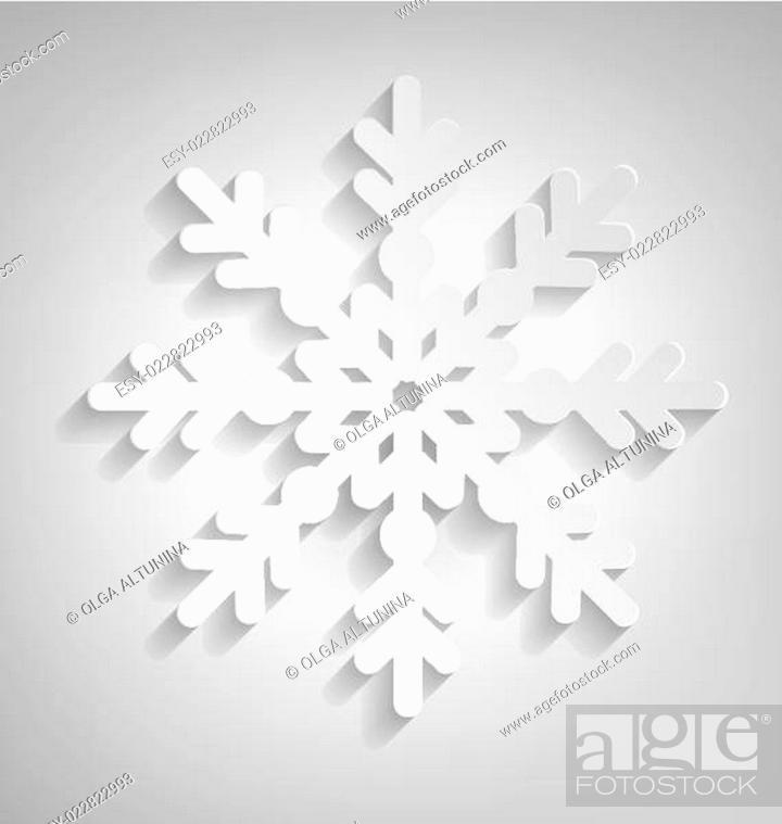 Stock Vector: Christmas Snowflake.
