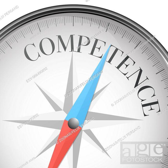 Stock Photo: compass Competence.