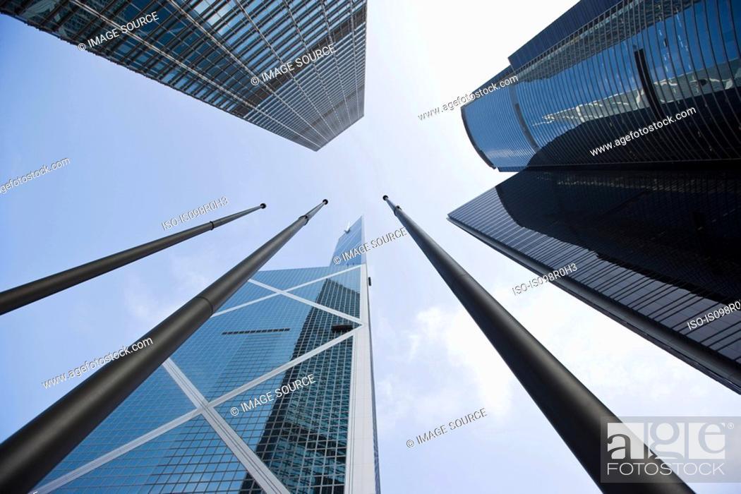 Stock Photo: Skyscrapers in hong kong.