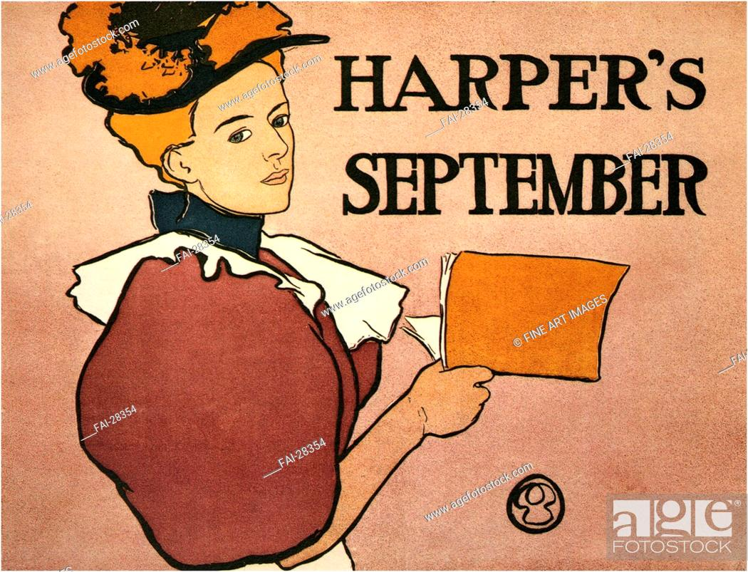 Stock Photo: Harper's September by Penfield, Edward (1866-1925)/Colour lithograph/Art Nouveau/1896/The United States/Private Collection/Poster and Graphic.