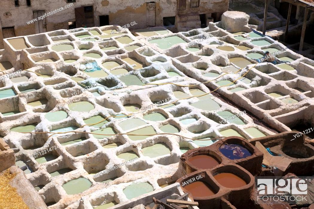 Stock Photo: Chouara tannery, Fez, Morocco.