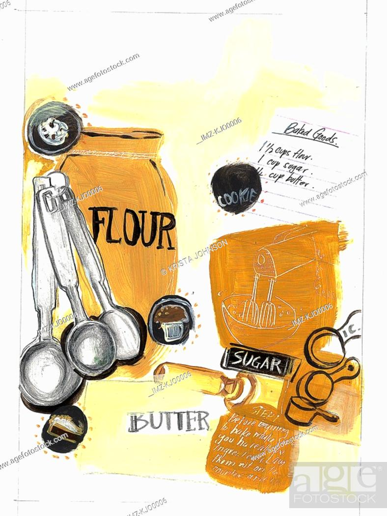 Stock Photo: baking equipment.