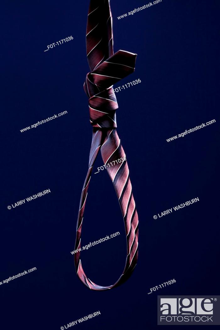 Stock Photo: A striped necktie tied into a noose.