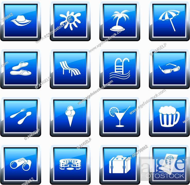 Stock Vector: travel icons set.