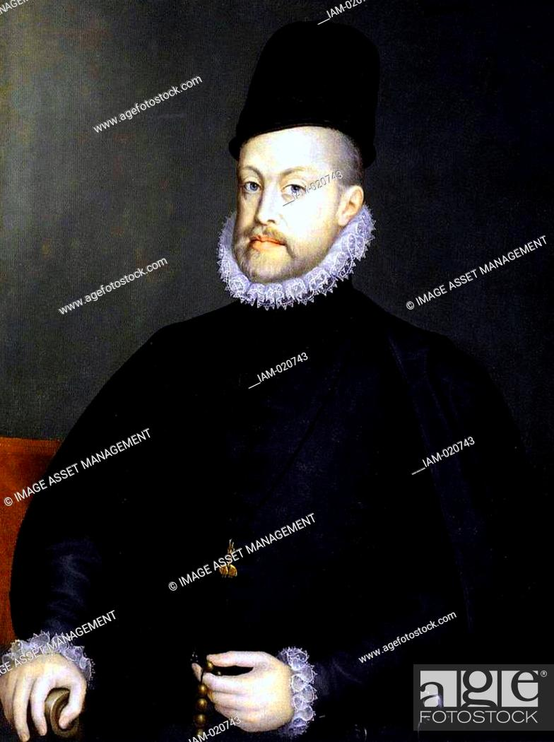 Imagen: Philip II (May 21, 1527 – September 13, 1598) King of Spain from 1556 until 1598, King of Naples from 1554 until 1598, king consort of England (as husband of.