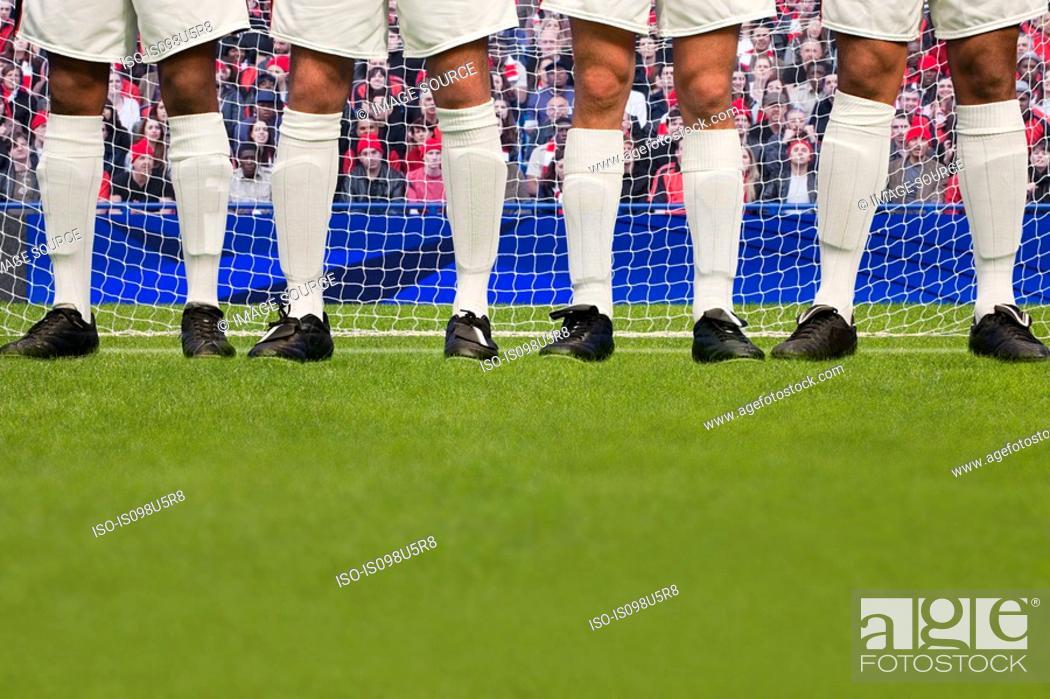 Stock Photo: Free kick during a football match.