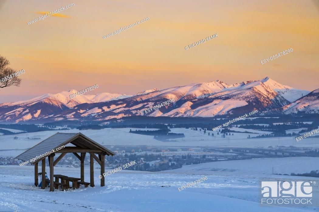 Stock Photo: Western Tatras (Rohace) in winter time, Slovakia.