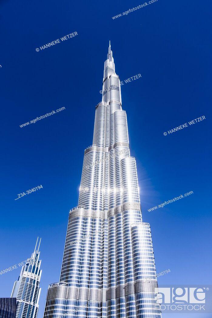 Photo de stock: The Burj Khalifa in Dubai, highest building of the world.