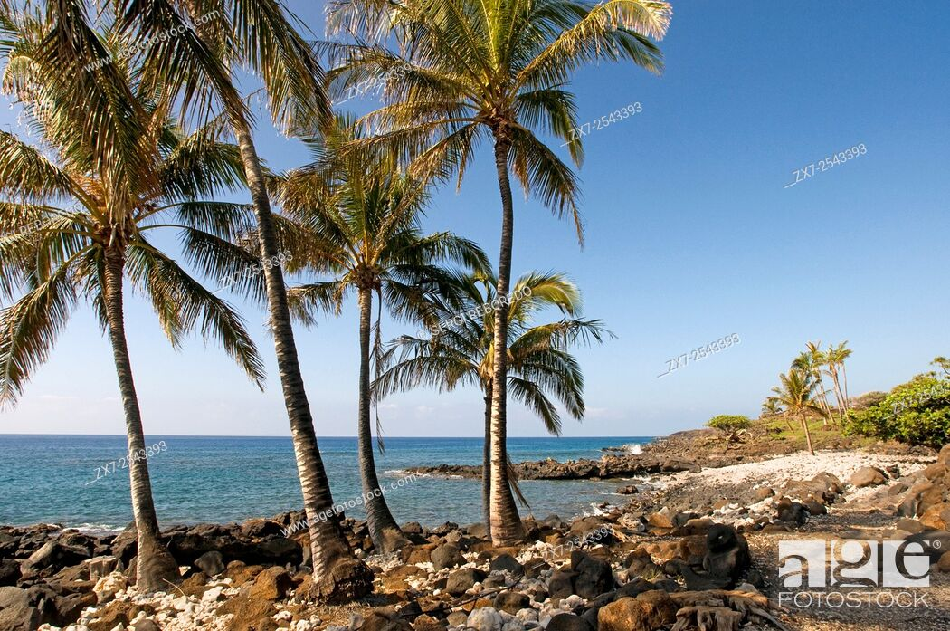 Stock Photo: Lapakahi State Historical Park, where Hawaiian fishermen lived for centuries until the place was left without water. Big Island. Hawaii. USA.