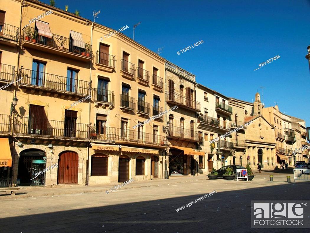 Plaza Mayor Ciudad Rodrigo Castilla Y Leon Espana Stock
