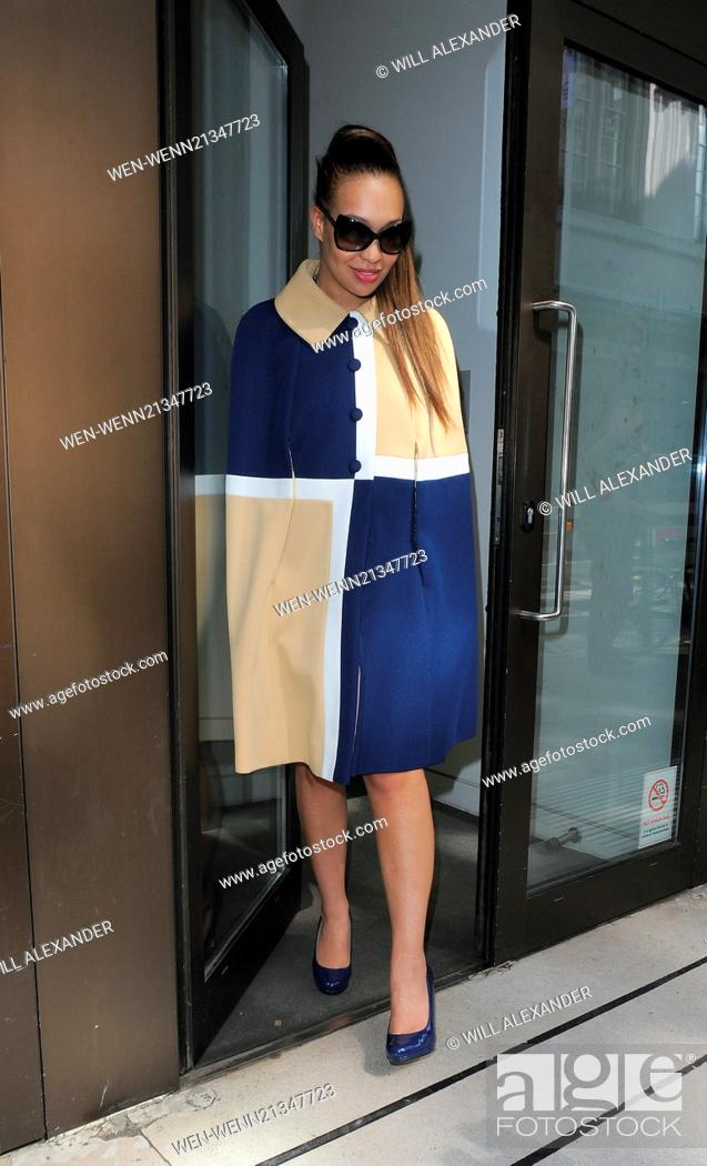 Rebecca Ferguson leaving the Sony Music offices Featuring