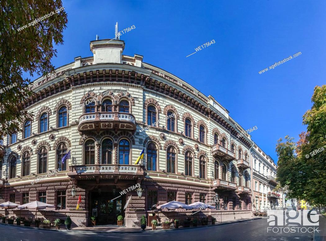Stock Photo: Luxury hotel Londonskaya in the historic center of the Odessa city.