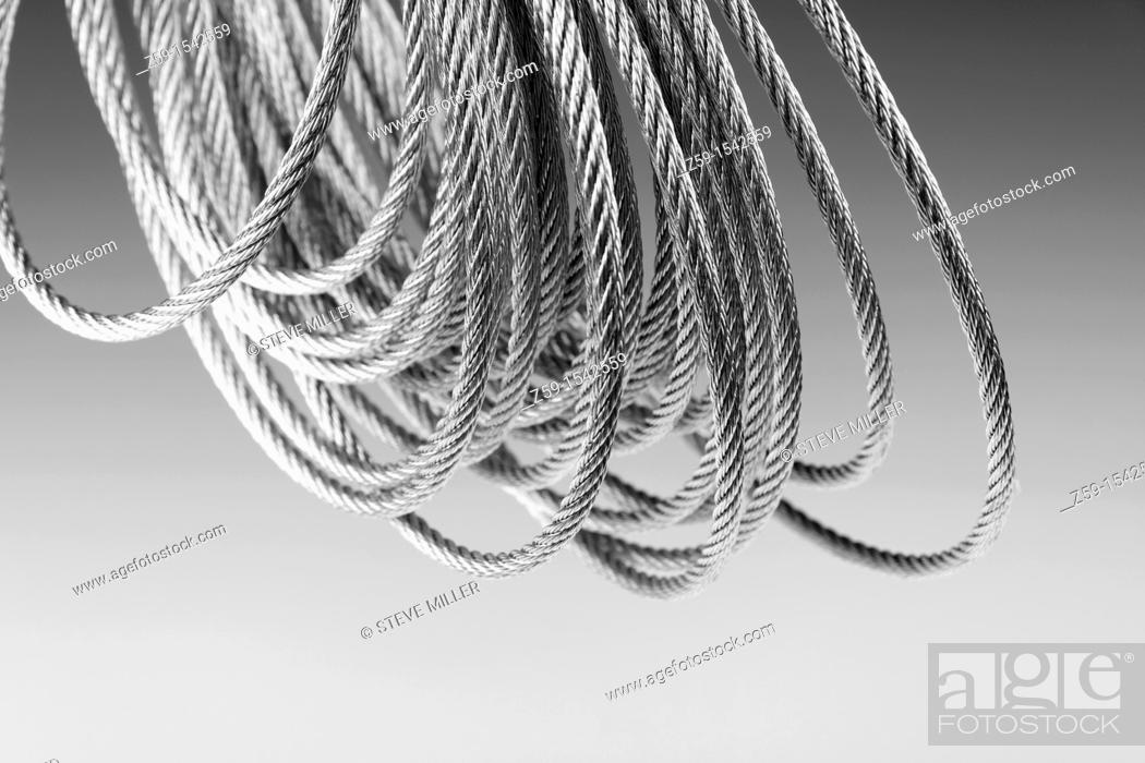 Stock Photo: galvanised or galvanized steel wire.