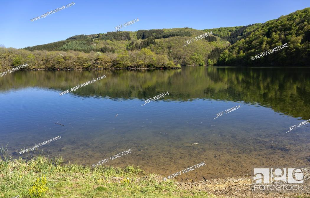 Stock Photo: Europe, Luxembourg, Insenborn, Lac Sure.