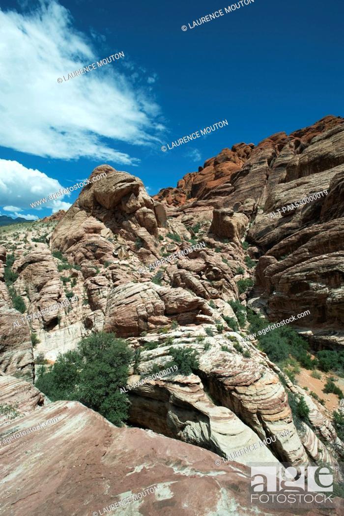 Stock Photo: Red Rock Canyon, Nevada, USA.