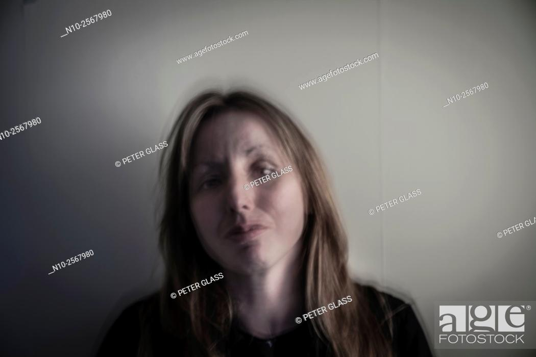 Stock Photo: Forty year old woman.