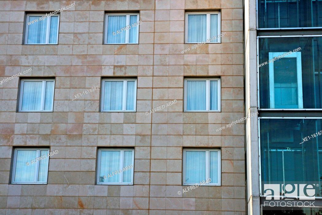 Stock Photo: Lift, Hotel Novotel, Cornella de Llobregat, Catalonia, Spain.