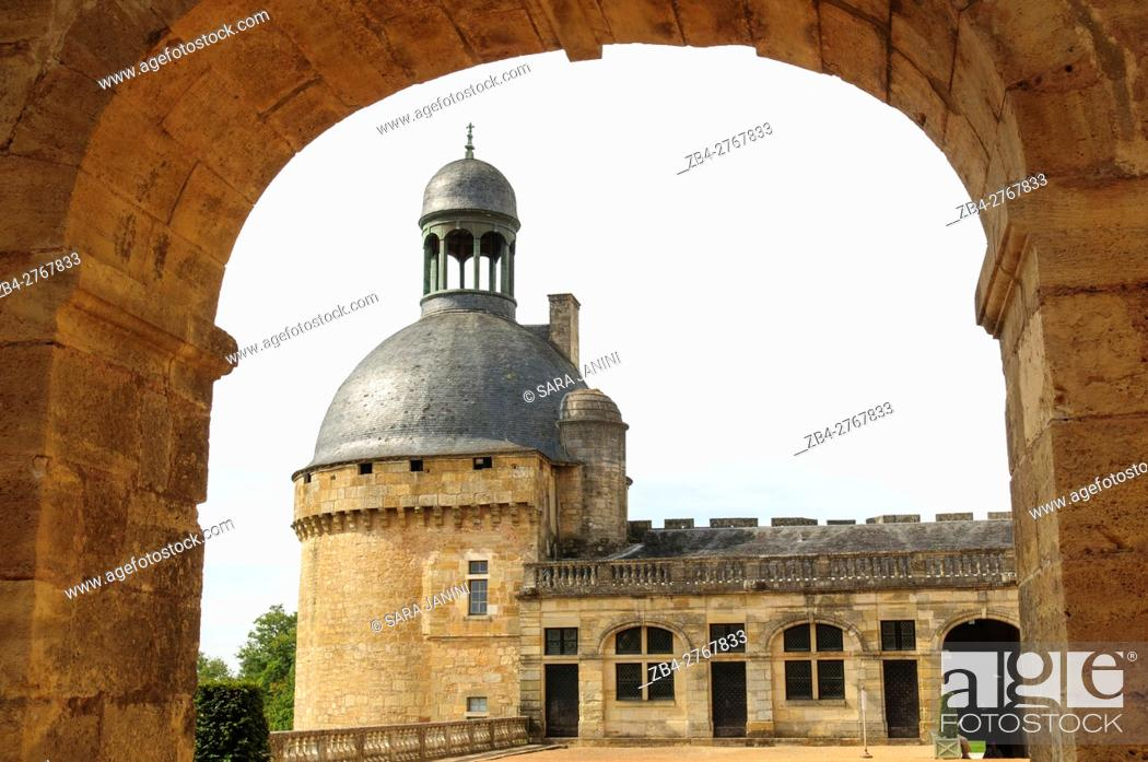 Stock Photo: Château de Hautefort, Aquitaine, France.