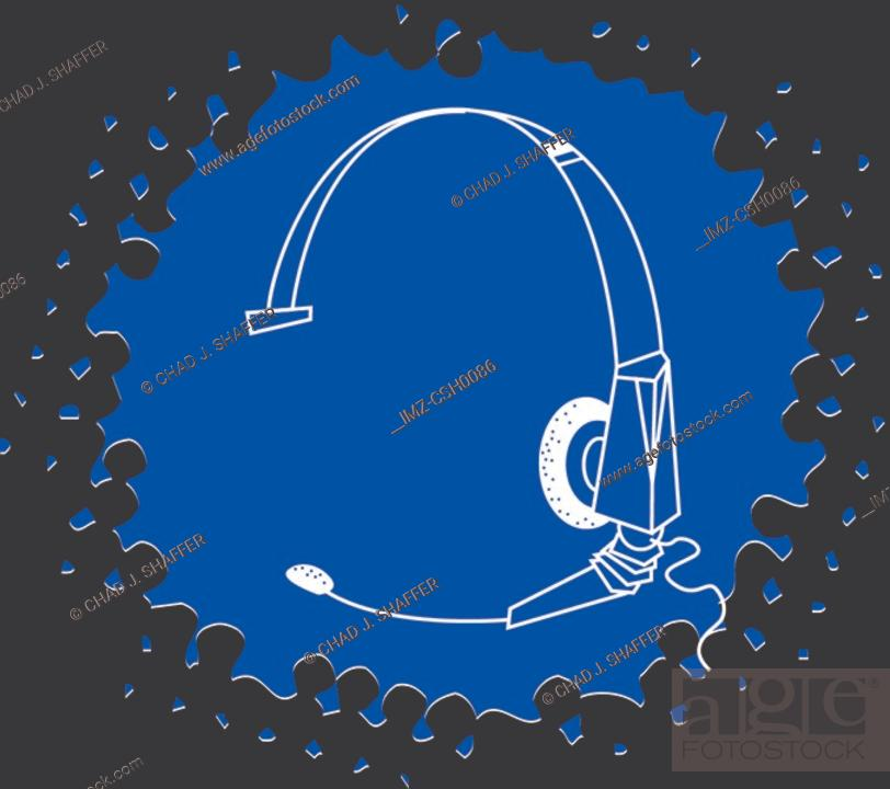 Stock Photo: Drawing of a phone headset.