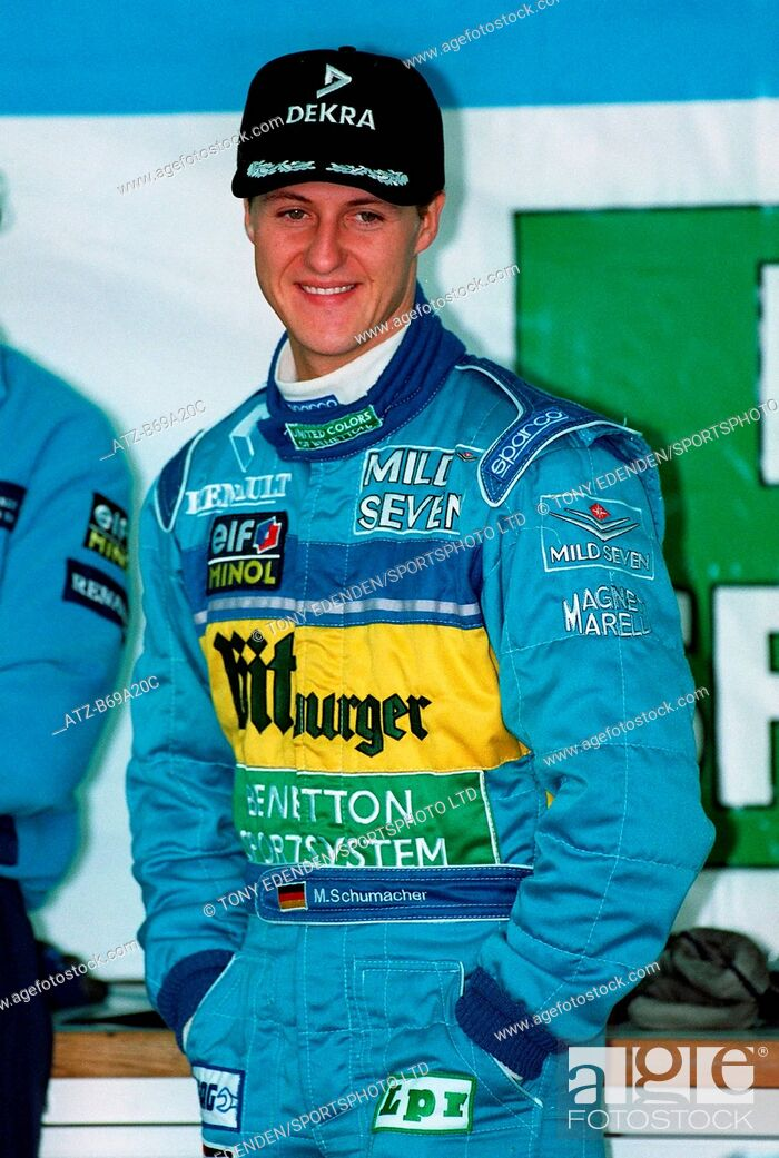 Stock Photo: Michael Schumacher Benetton-Renault 09 March 1995 B69A20C Allstar Picture Library.