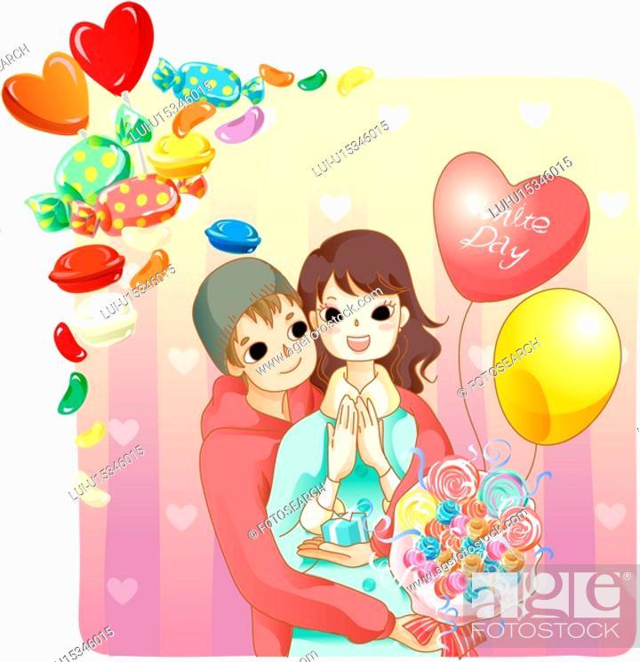 Stock Photo: affection, lover, love, girl friend, boy friend, couple.