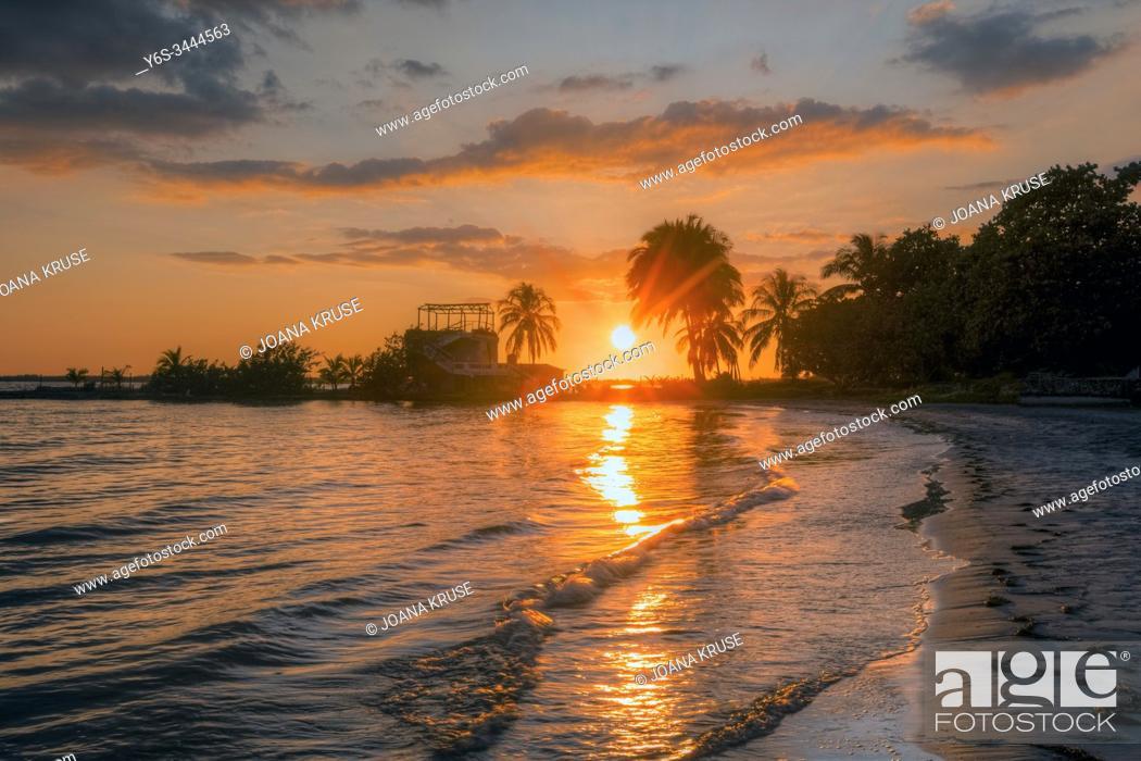 Stock Photo: Playa Larga, Matanzas, Cuba, North America.