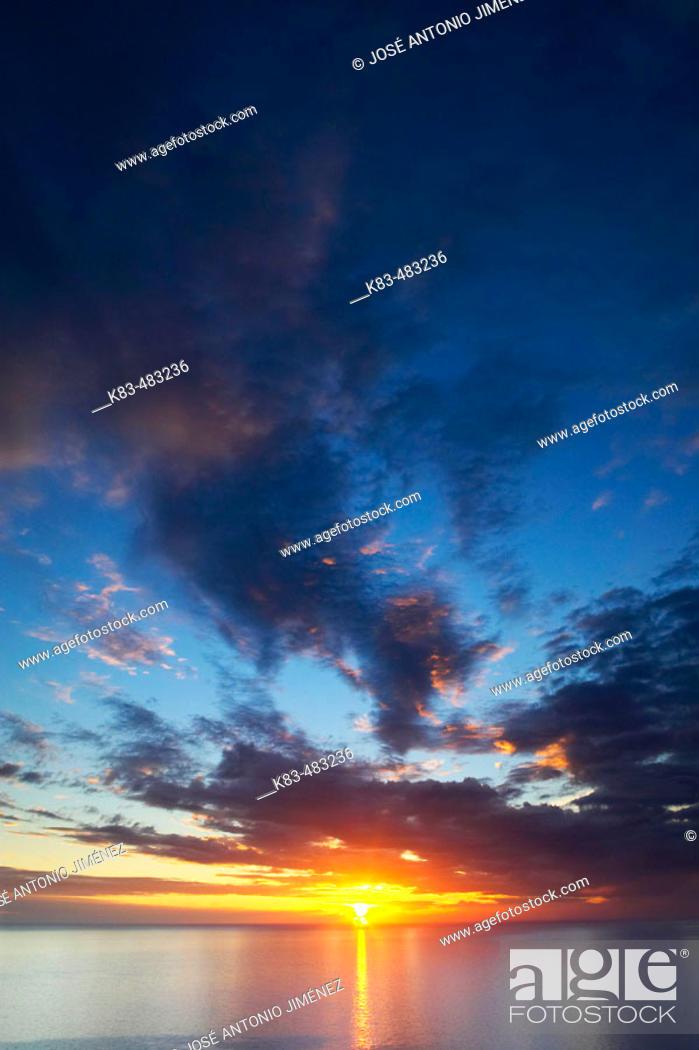 Stock Photo: Evening over Costa del Sol. La Axarquía, Andalusia, Spain.