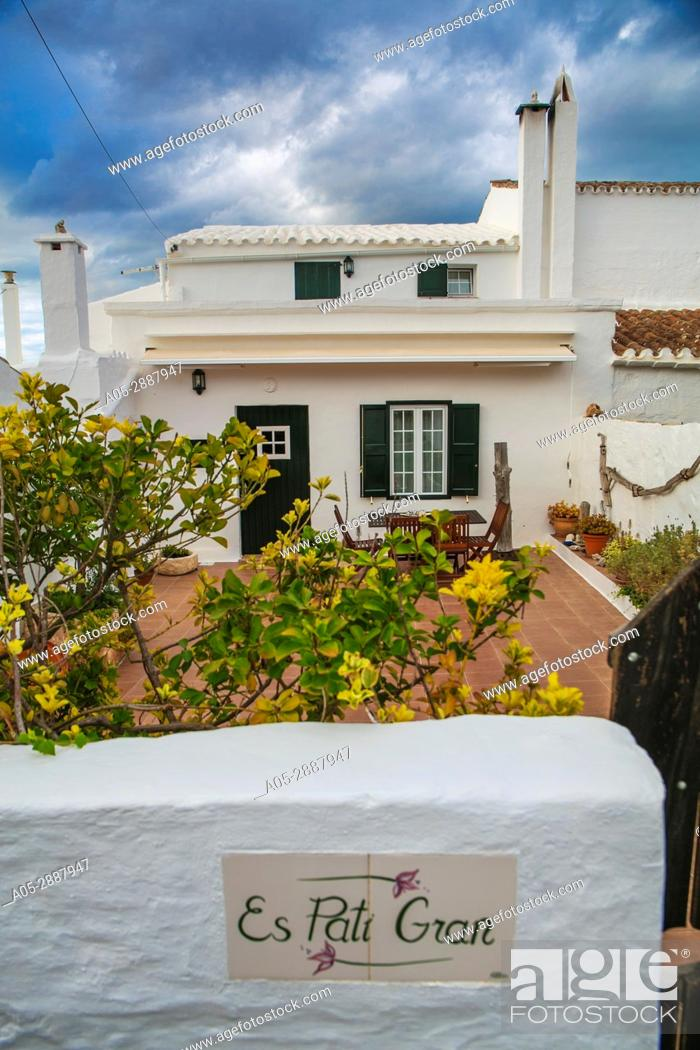 Stock Photo: Torret de Baix. Sant Lluis Municipality. Minorca Island. Balearic Islands. Spain.