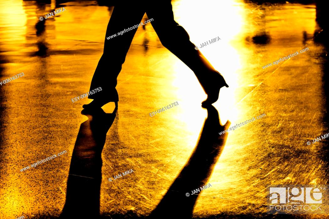 Stock Photo: Abstract, creative, digitally altered and toned photo of women legs and shadows.