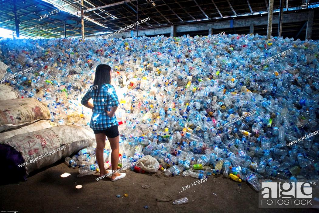 Stock Photo: Plastic recycling facility on Bali.