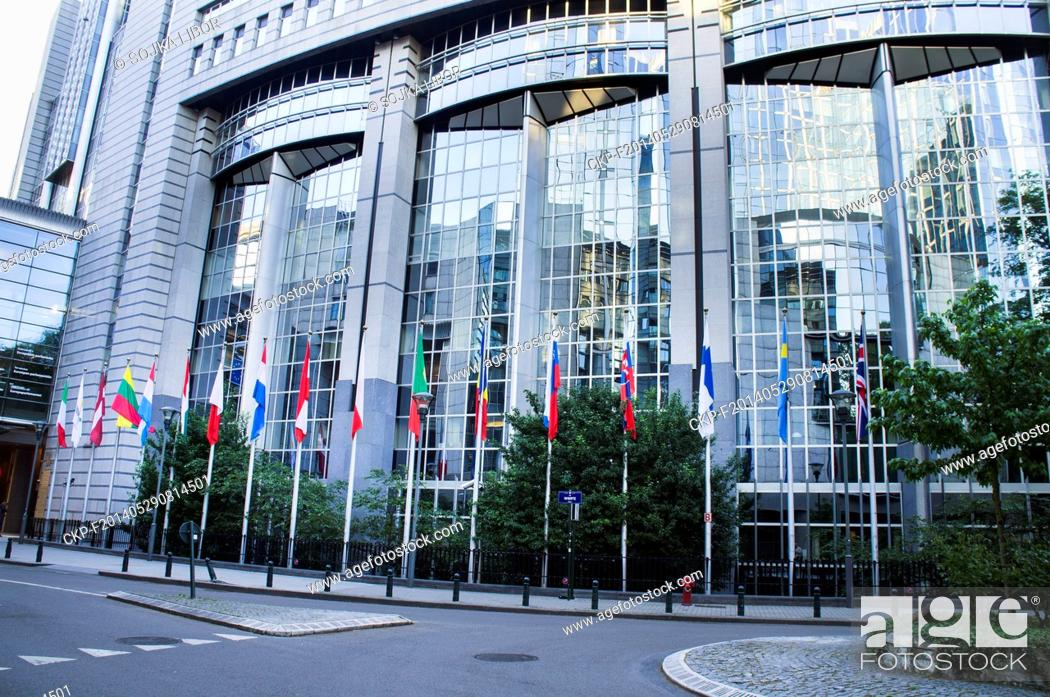 Stock Photo: Paul Henri Spaak Building, European Parliament, EP, Brussels, Belgium, on May 17, 2014 (CTK Photo/Libor Sojka).