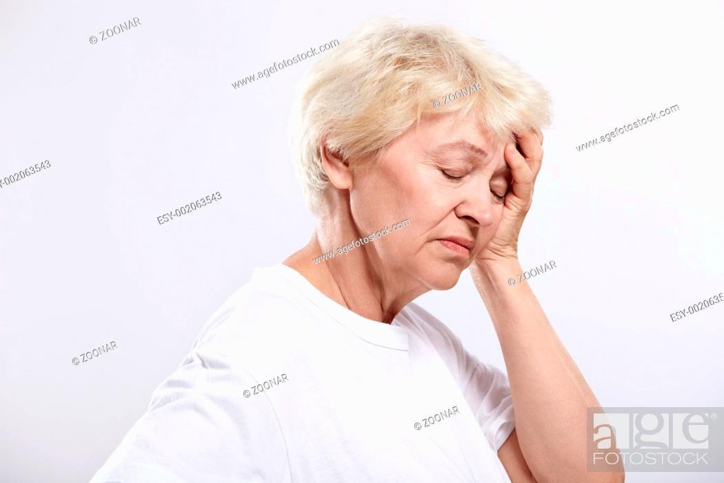 Stock Photo: Migraine.