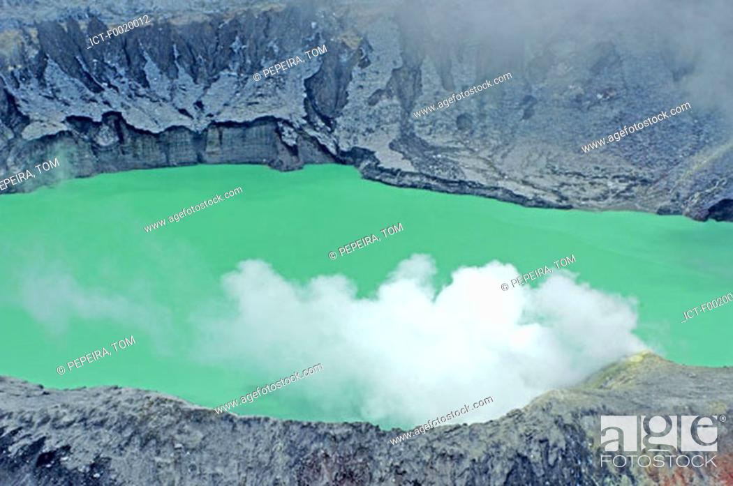 Stock Photo: Costa Rica, Poas Volcano National Park, crater.