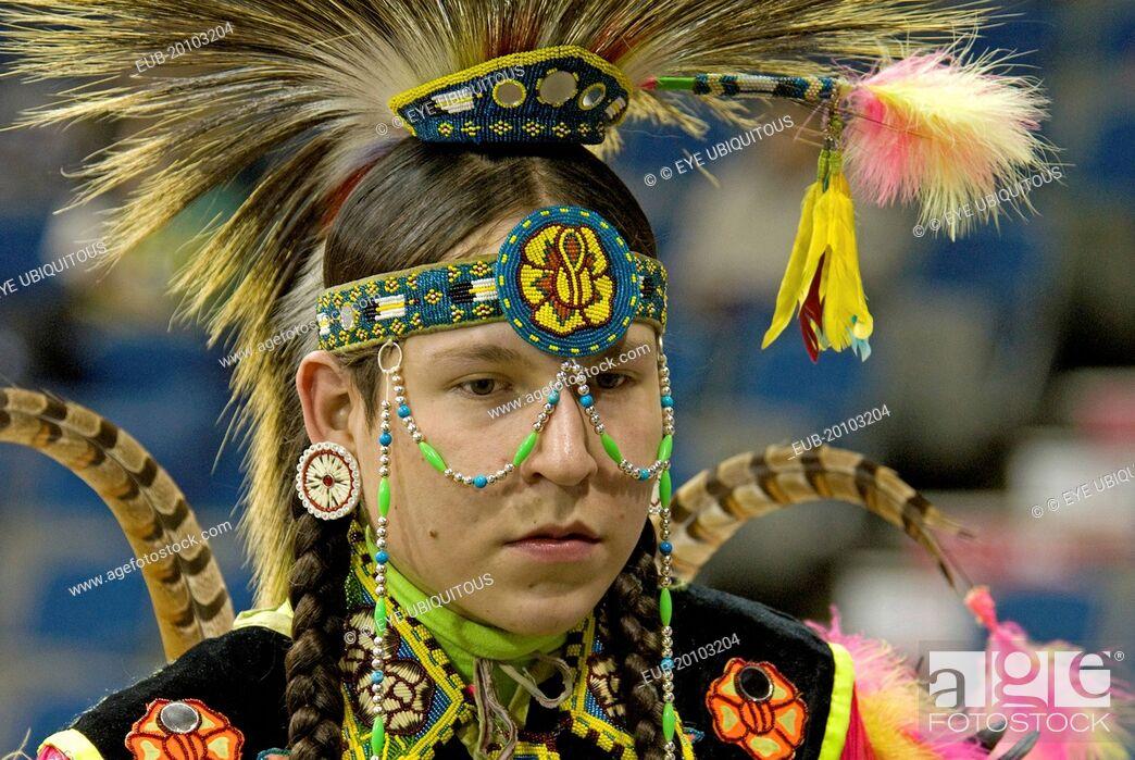 International Peace Pow Wow Head shot of Blackfoot Indian